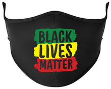 Load image into Gallery viewer, BLACK LIVES MATTER Reusable Black Face Mask