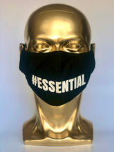 Load image into Gallery viewer, #ESSENTIAL Reusable Black Face Mask