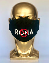 Load image into Gallery viewer, NO 🚫 RONA Reusable Black Face Mask
