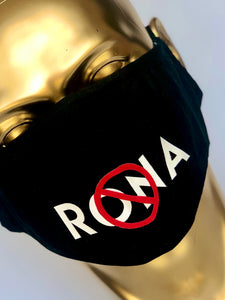 NO 🚫 RONA Reusable Black Face Mask