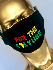 FOR THE CULTURE Reusable Black Face Mask