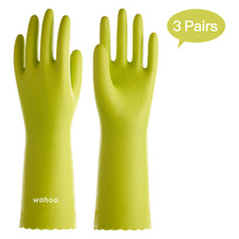 Load image into Gallery viewer, WF44 丨 Flocom Flocklined PVC  Household Gloves 3 Pairs