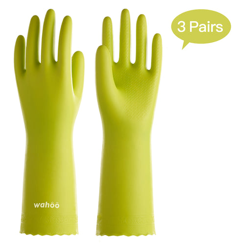 WF44 丨 Flocom Flocklined PVC  Household Gloves 3 Pairs