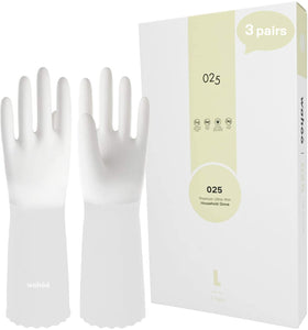 WF76 丨 Flocom Flocklined PVC Household Gloves 3 Pairs