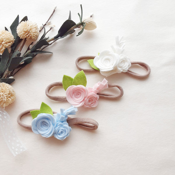 Mini Flower Cluster Headbands Or Clips