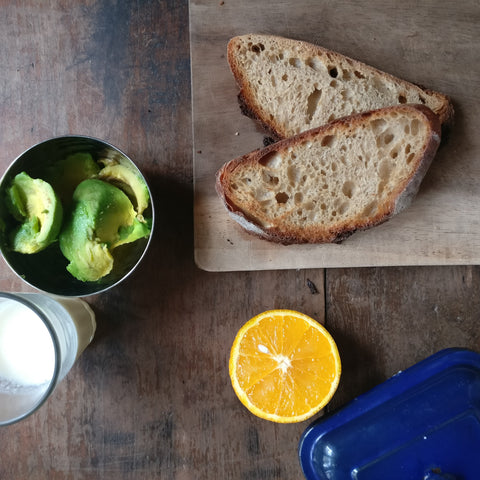 avocado and sourdough bread