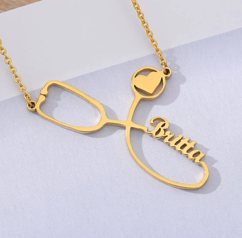 Personalized Stethoscope Necklace - HadyaTrends