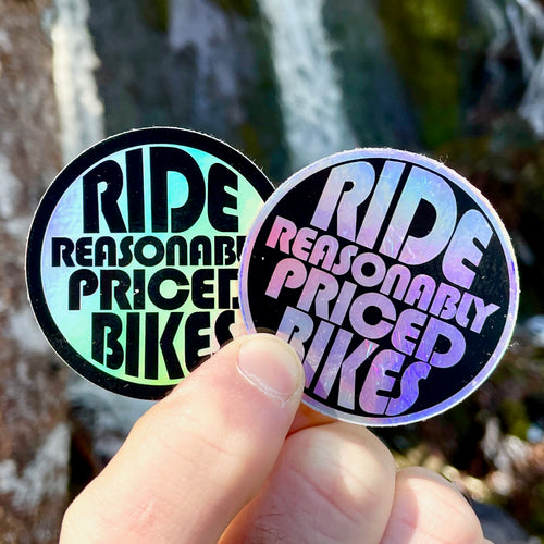 Ride Reasonably Priced Bikes - Holographic Stickers