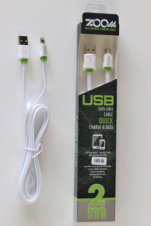 Cable cargador 2 metros - IPhone y Micro USB (V8)