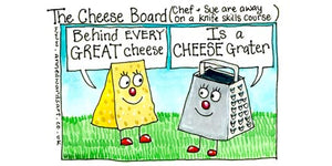"""Cheese board"" Original ink and watercolour painting"
