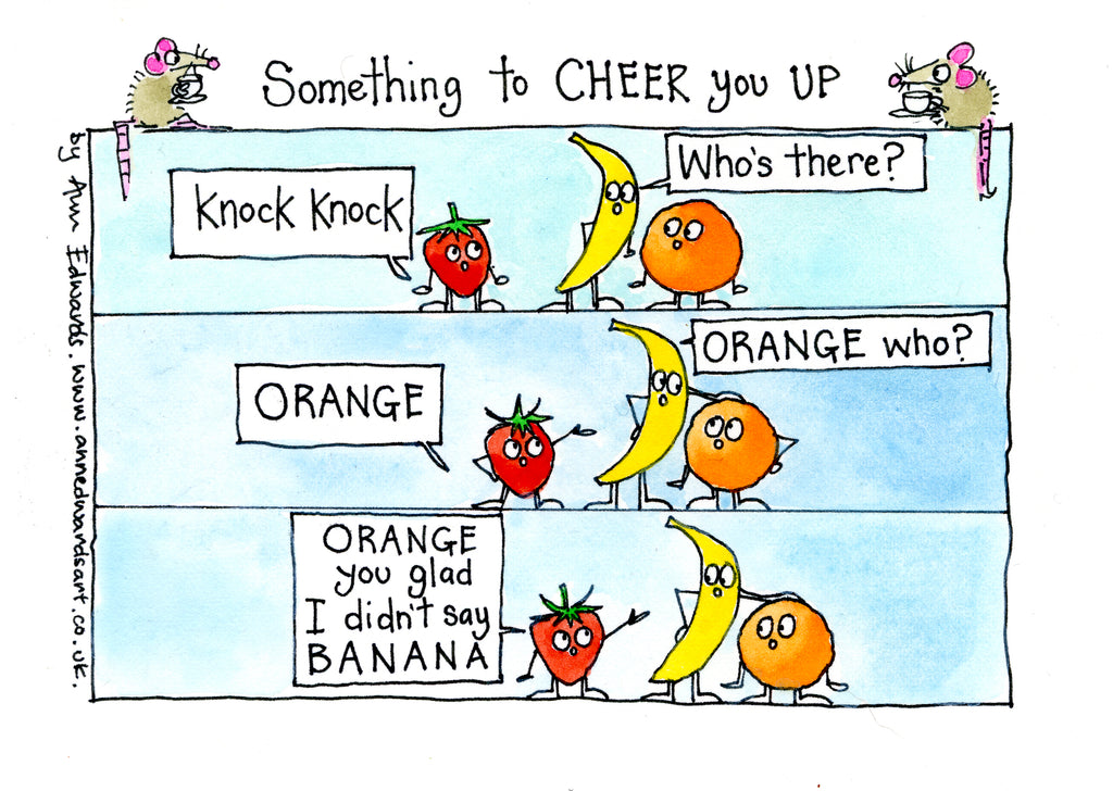 """Knock knock Orange""   Original ink and watercolour painting"