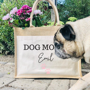 Jute Tasche I DOG MOM I CAT MOM