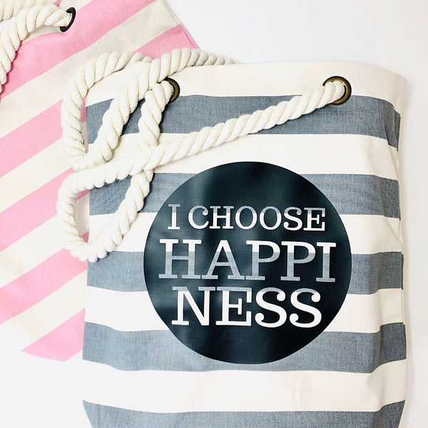 Tasche, Nautical,  I CHOOSE HAPPiNESS
