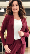 Bordeaux Jillian luxus blazer med foer
