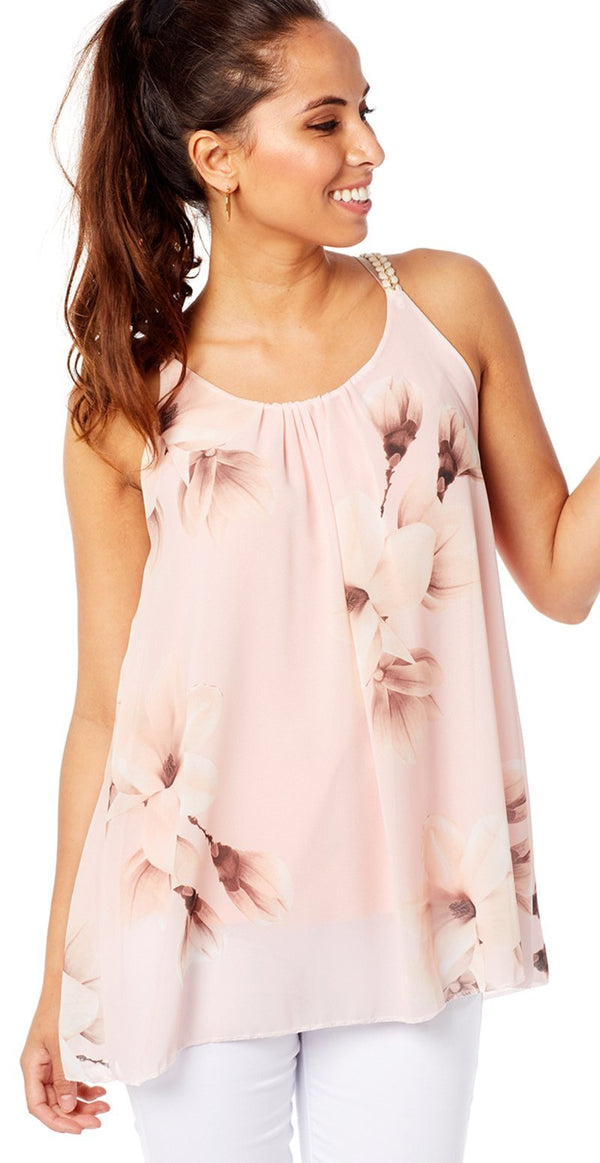ROSA CHIFFON BLUSE MED BLOMSTER (4502687613009)