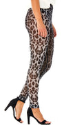 Grå/sort mesh leopard leggings