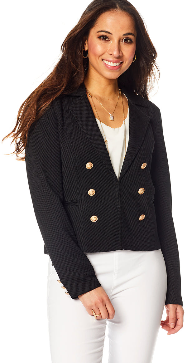 Sort blazer med knapper