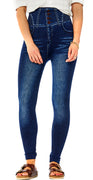 Jeggings i denimlook navy