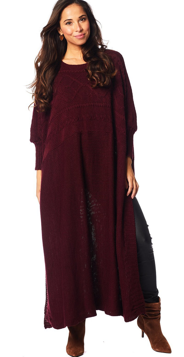 BORDEAUX STRIK PONCHOKJOLE (4502563029073)
