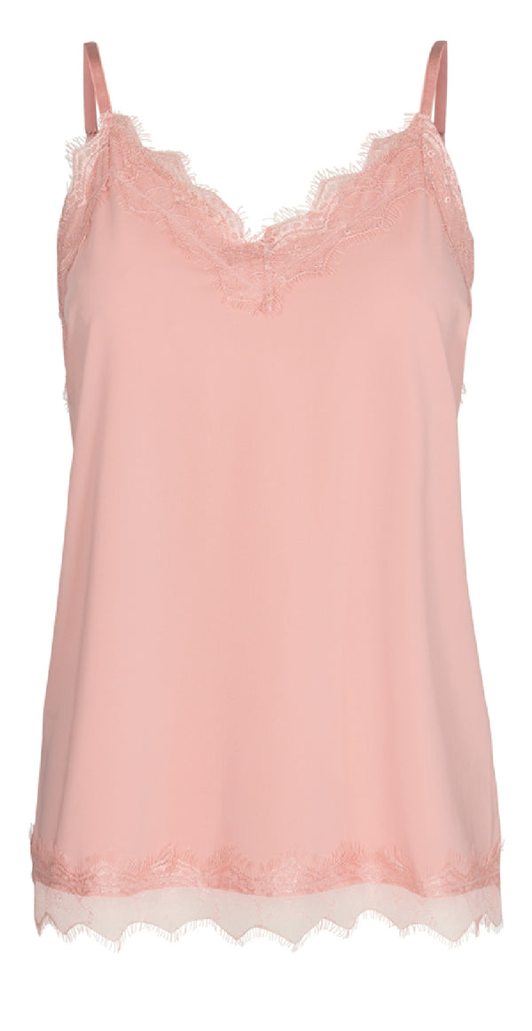 Rosa top med blonde