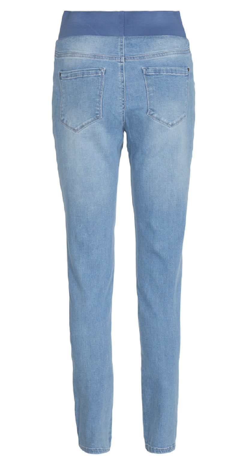 Lys blå denim shantal stretch buks