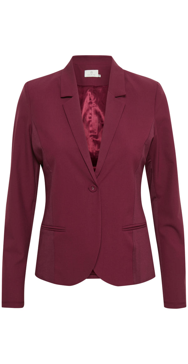 Tawny port/Bordeaux Jillian luxus blazer med foer