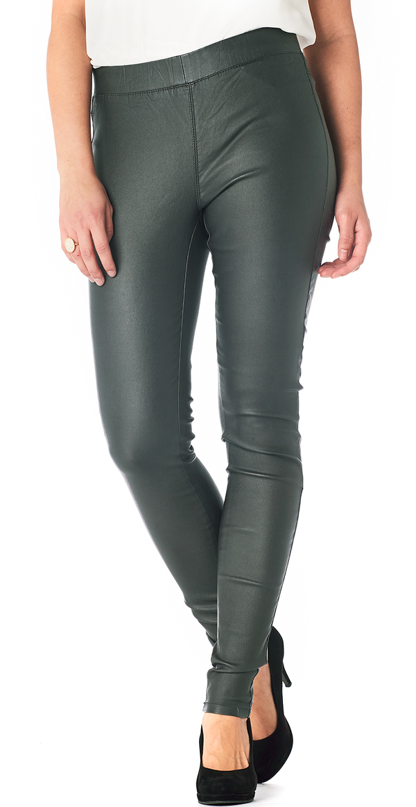 Green spruce læder jeggings (4502604742737)