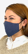 Grå denim modemaske