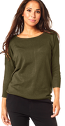 Olive night strik pullover