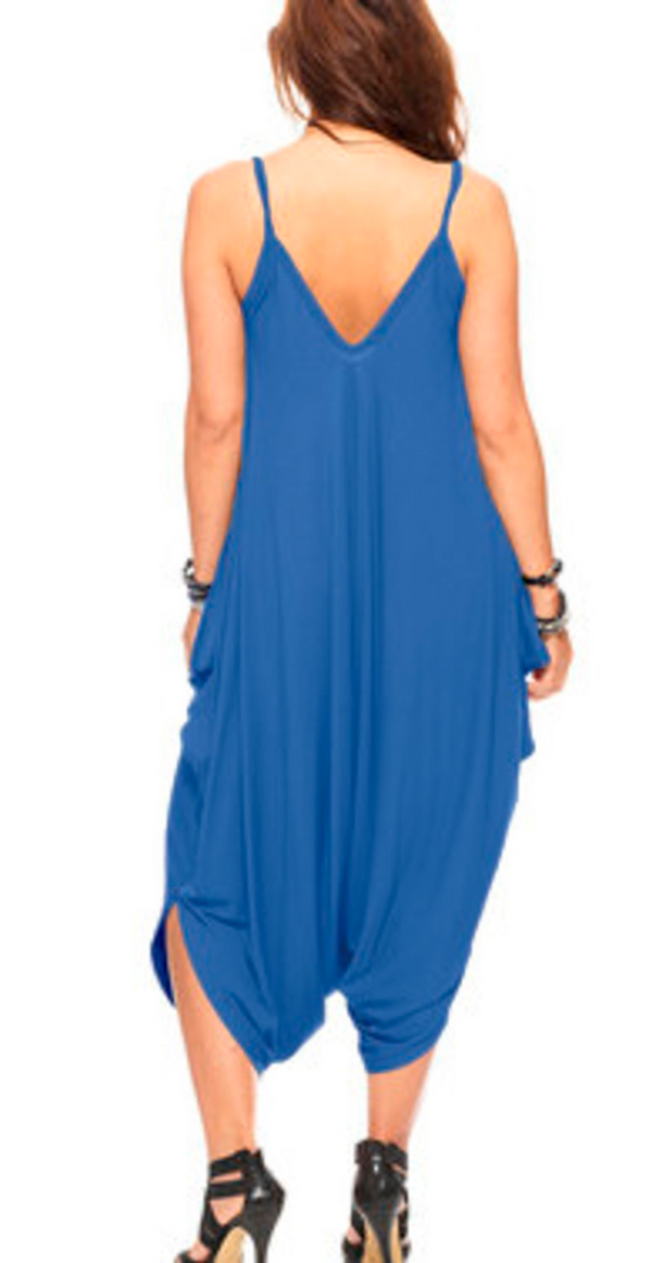 Royalblue kjolejumpsuit