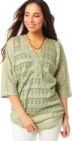Lime blonde bluse