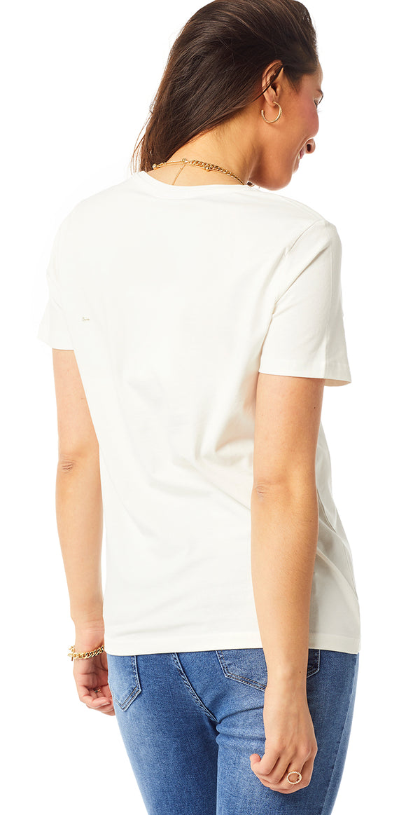 Off-white t-shirt med print