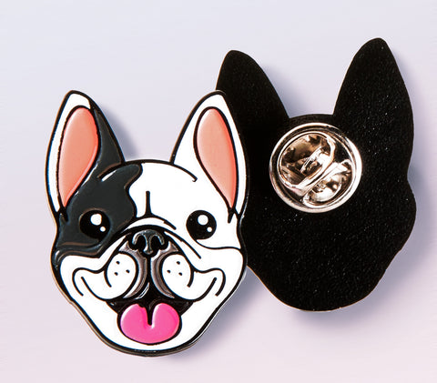 Manny the Frenchie enamel pin