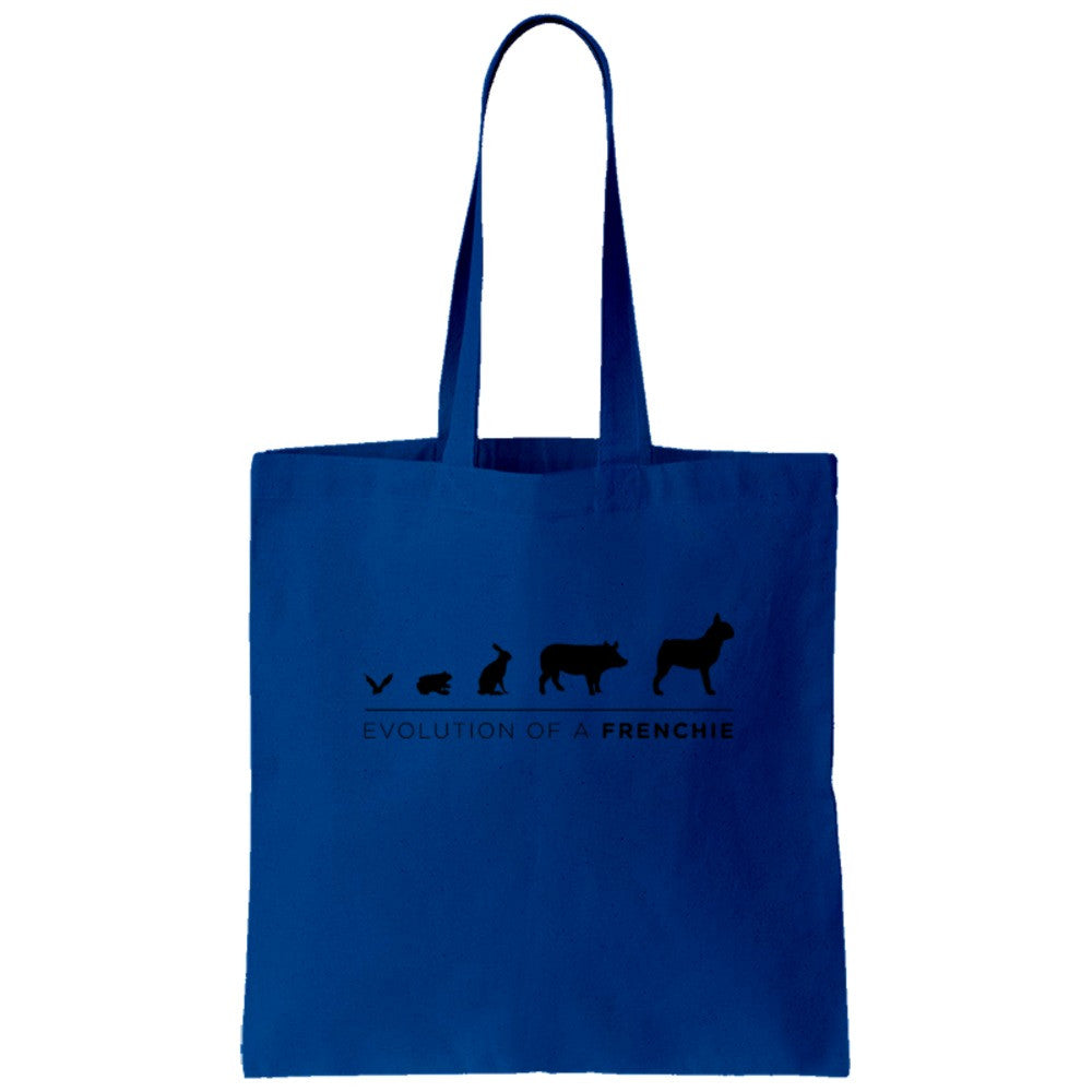 Frenchie Evolution Tote Bag