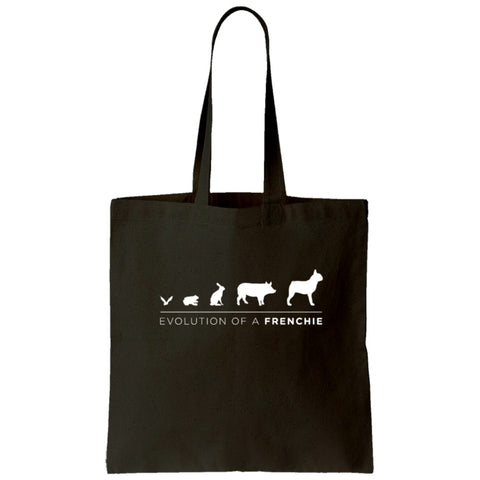 Frenchie Evolution Tote Bag (White)