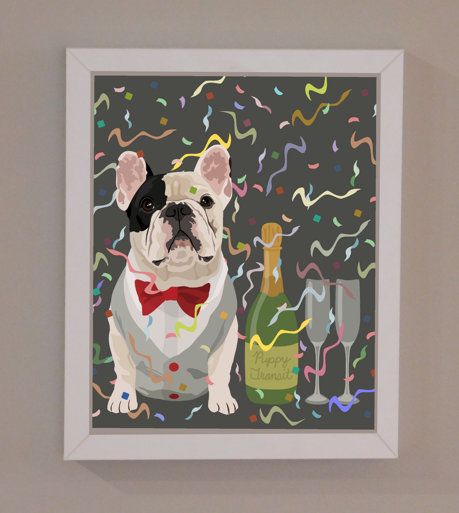 "New Years Pawty Print - 8""x10"""