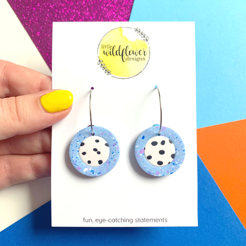 Speckled Spots Mini Circle Hoops