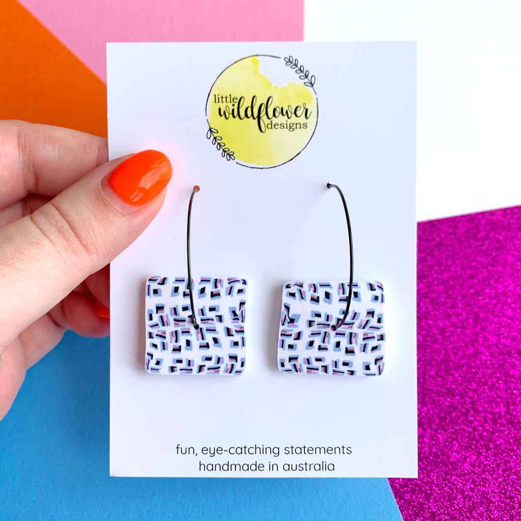 Pixel Perfect Middle Square Hoops 2