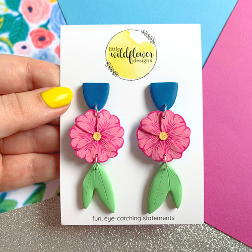 Floral Affair Pink Dangles