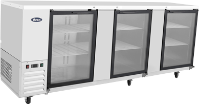 Back Bar Cooler - Three Glass Door 90""