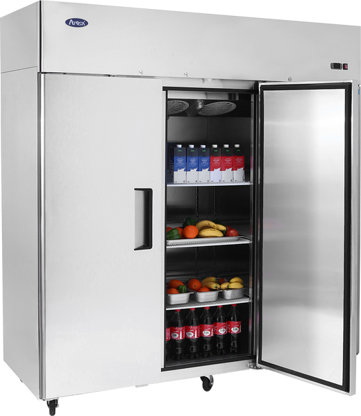 Top Mount Three Door Reach-In Refrigerator