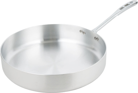 Straight Sided Aluminum Saute Pan - 7.5 qt