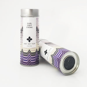 Earl Grey Creme Loose leaf tea from Art of Tea. 2.5 oz Canister.