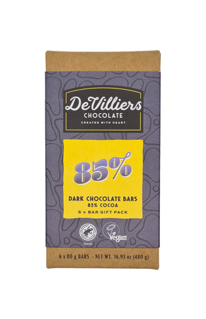 85%  DARK CHOCOLATE  BAR - de villiers chocolate us