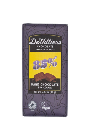 85%  DARK CHOCOLATE  BAR - De Villiers Chocolate