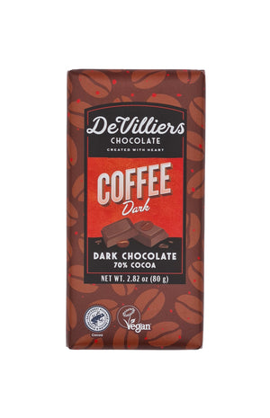 DARK CHOCOLATE BAR COMBINATION - PACK OF 6 BARS OF 2.82 OUNCE EACH - De Villiers Chocolate