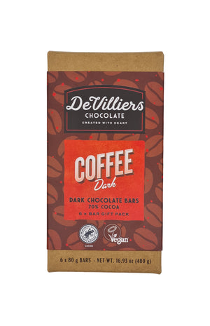 COFFEE DARK CHOCOLATE BAR - De Villiers Chocolate