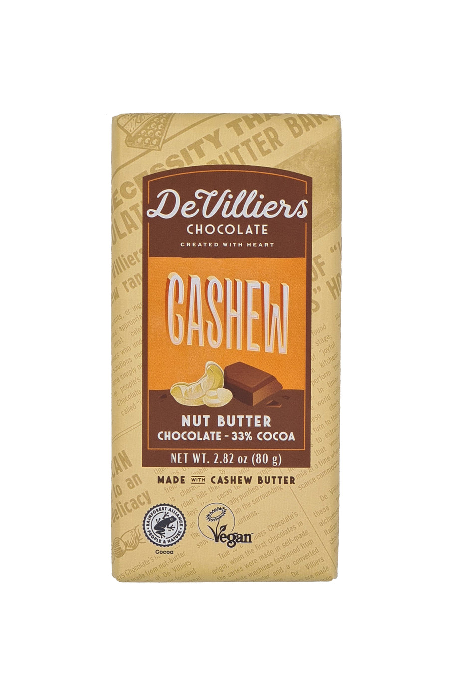 NUT BUTTER CHOCOLATE BAR COMBINATION - PACK OF 6 BARS OF 2.82 OUNCE EACH - de villiers chocolate us