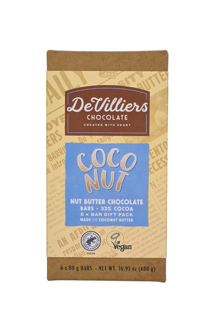 COCONUT NUT BUTTER CHOCOLATE BAR 6 PACK