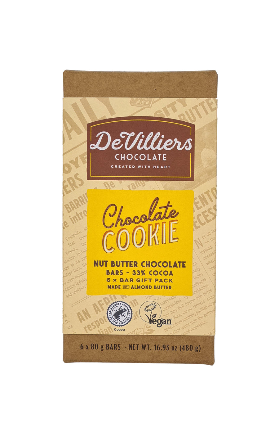 CHOCOLATE COOKIE NUT BUTTER CHOCOLATE BAR - de villiers chocolate us